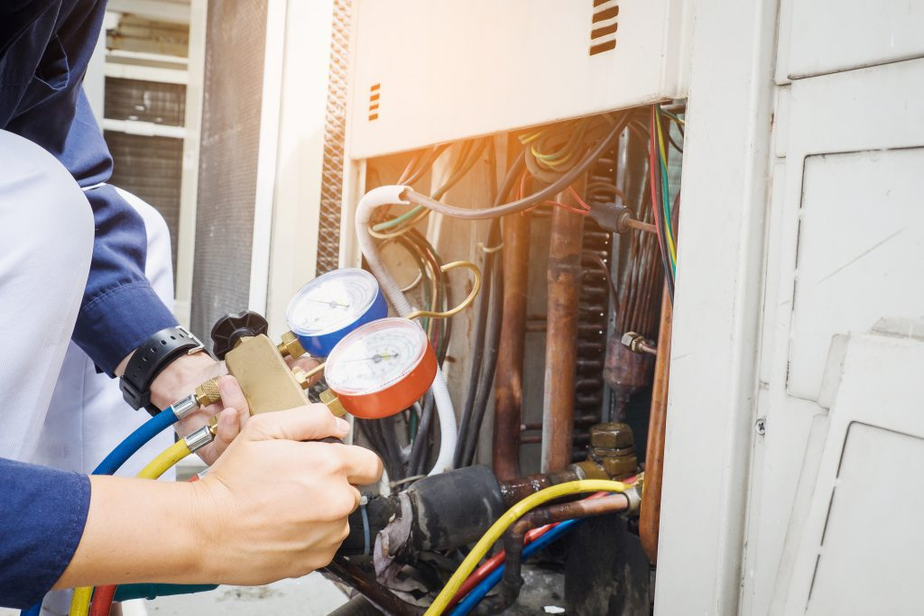 commercial heating and cooling rooftop unit service