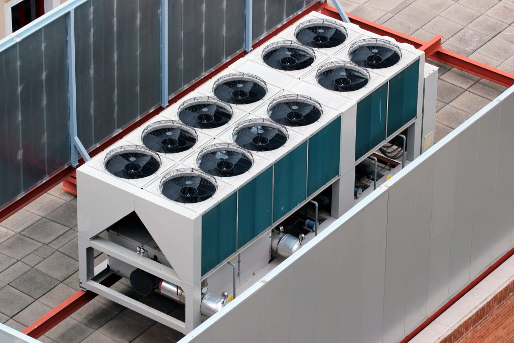 commercial heating and cooling installation